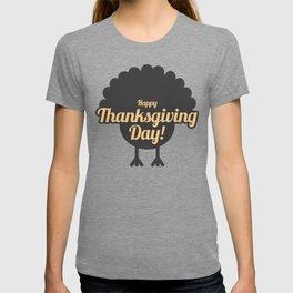 Happy Thanksgiving Day Turkey Gobble Design T-shirt
