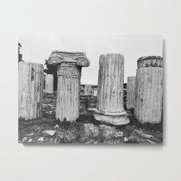 Ruined columns at the Parthenon Metal Print