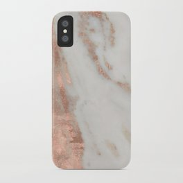 Marble Rose Gold Shimmery Marble iPhone Case