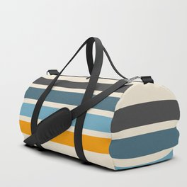 Vintage Retro Stripes Duffle Bag