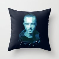 jesse pinkman Throw Pillows featuring Jesse Pinkman by Dr.Söd