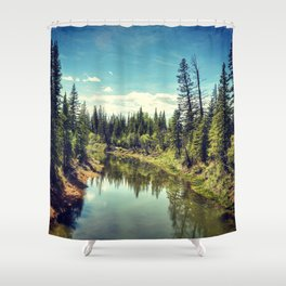 Leave The Road, Take The Trail Shower Curtain