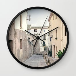 Empty Street Wall Clock