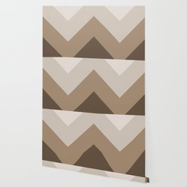 Brown Taupe Chevron Stripes Wallpaper