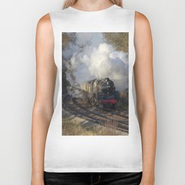 Steam locomotive 73156 Portrait Biker Tank