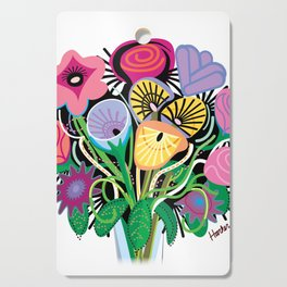 Animal Flowers Cutting Board