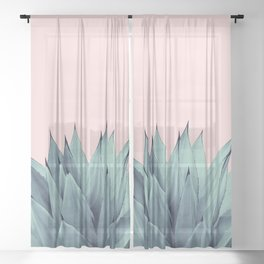 Agave Vibes #12 #tropical #decor #art #society6 Sheer Curtain