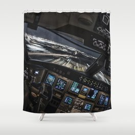 32R Clear to land Shower Curtain