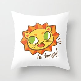 Baby Big Cats Hungry Lion Throw Pillow