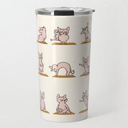 Sphynx Cat Yoga Travel Mug