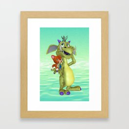 My Little Friend .. fantasy  Framed Art Print