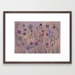 A profusion of flowers Framed Art Print