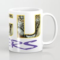 decal Mugs featuring LSU NEW DECAL by The Greedy Fox