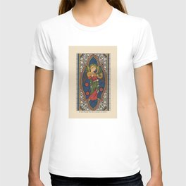 Stained Glass Angel from Temple Church London 1400 T-shirt