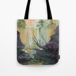 Waterfall Cliffs Tote Bag