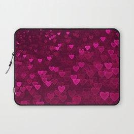 Valentine's Day | Romantic Crimson Galaxy | Universe of pink purple hearts Laptop Sleeve