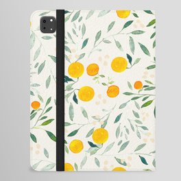 Oranges and Leaves iPad Folio Case