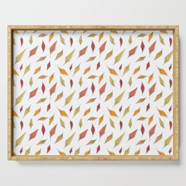 Autumn Leaves Pattern Serving Tray