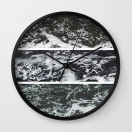 Saltwater Trytych Var II - blacks Wall Clock