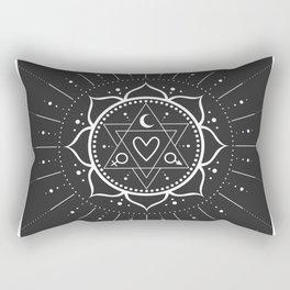 Minimal Tarot Deck The Lovers Rectangular Pillow