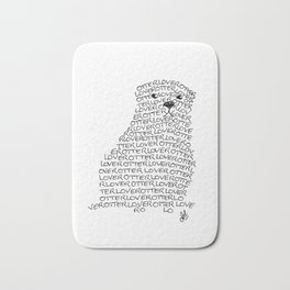 Otter lover typography Bath Mat