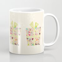 gift card Mugs featuring Christmas Gift 02 by BlueLela