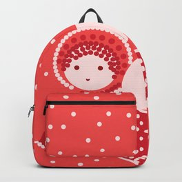 Angels on the red Backpack
