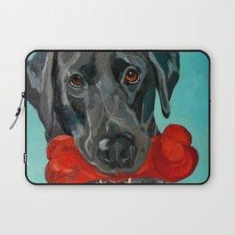 Ozzie the Black Labrador Retriever Laptop Sleeve