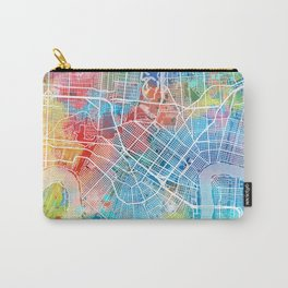 new orleans map watercolor Carry-All Pouch