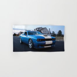 B5 Petty Blue with white stripes Challenger Scat pack Hellcat Hand & Bath Towel