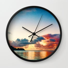 magic sky of kauai Wall Clock