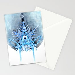 cold snow Stationery Cards