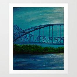 Summer Cass Street Bridge 2 of 4 Art Print