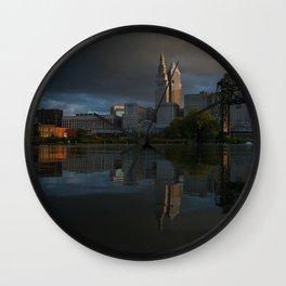 Moody Reflections Wall Clock