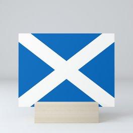 flag of scotland – scotland,scot,scottish,Glasgow,Edinburgh,Aberdeen,dundee,uk,cletic,celts,Gaelic Mini Art Print