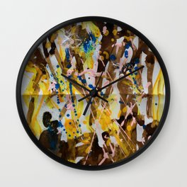 Abstract casting motive I Wall Clock