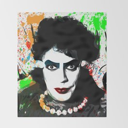 The Rocky Horror Picture Show   Pop Art Throw Blanket