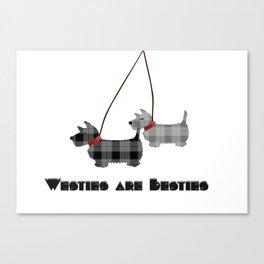 Westies are Besties Canvas Print