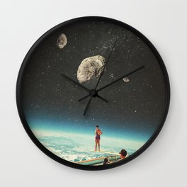 Summer with a Chance of Asteroids Wall Clock