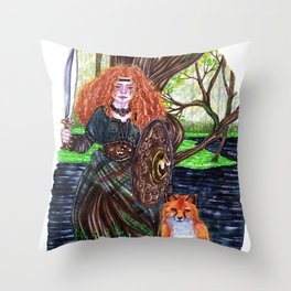 The alder tree sign Throw Pillow