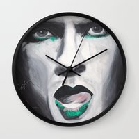neil gaiman Wall Clocks featuring Neil by 4:F by Freddie:4