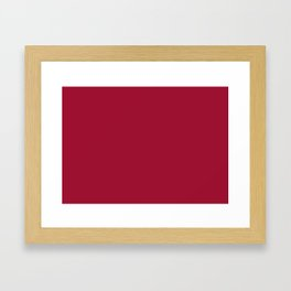 Jester Red | Pantone Fashion Color | Spring : Summer 2019 | New York and London | Solid Color Framed Art Print