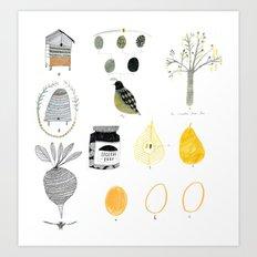 Food things. Art Print
