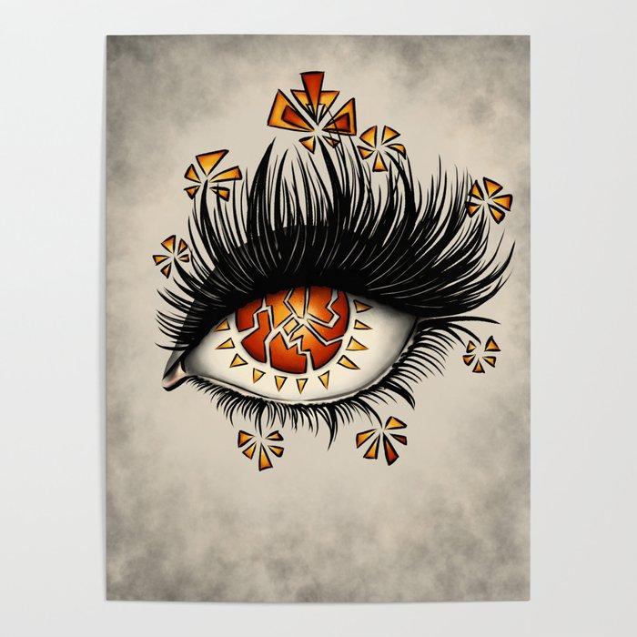 Weird Eye Of Fractured Lava | Digital Art Poster by borianagiormova