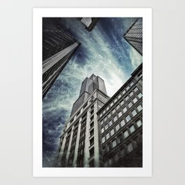 Chicago [Sky cut N°426] Illinois, Usa Art Print