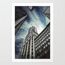 Chicago [Sky cut N°426] Illinois, Usa Art Print