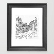 promenade en Alsace Framed Art Print