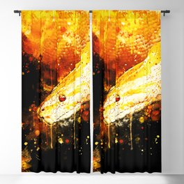 yellow tree python snake ws Blackout Curtain