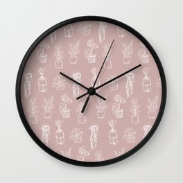 Indoor Plants Pattern Wall Clock