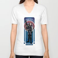 winter soldier V-neck T-shirts featuring Bucky the Winter soldier by Studio Kawaii